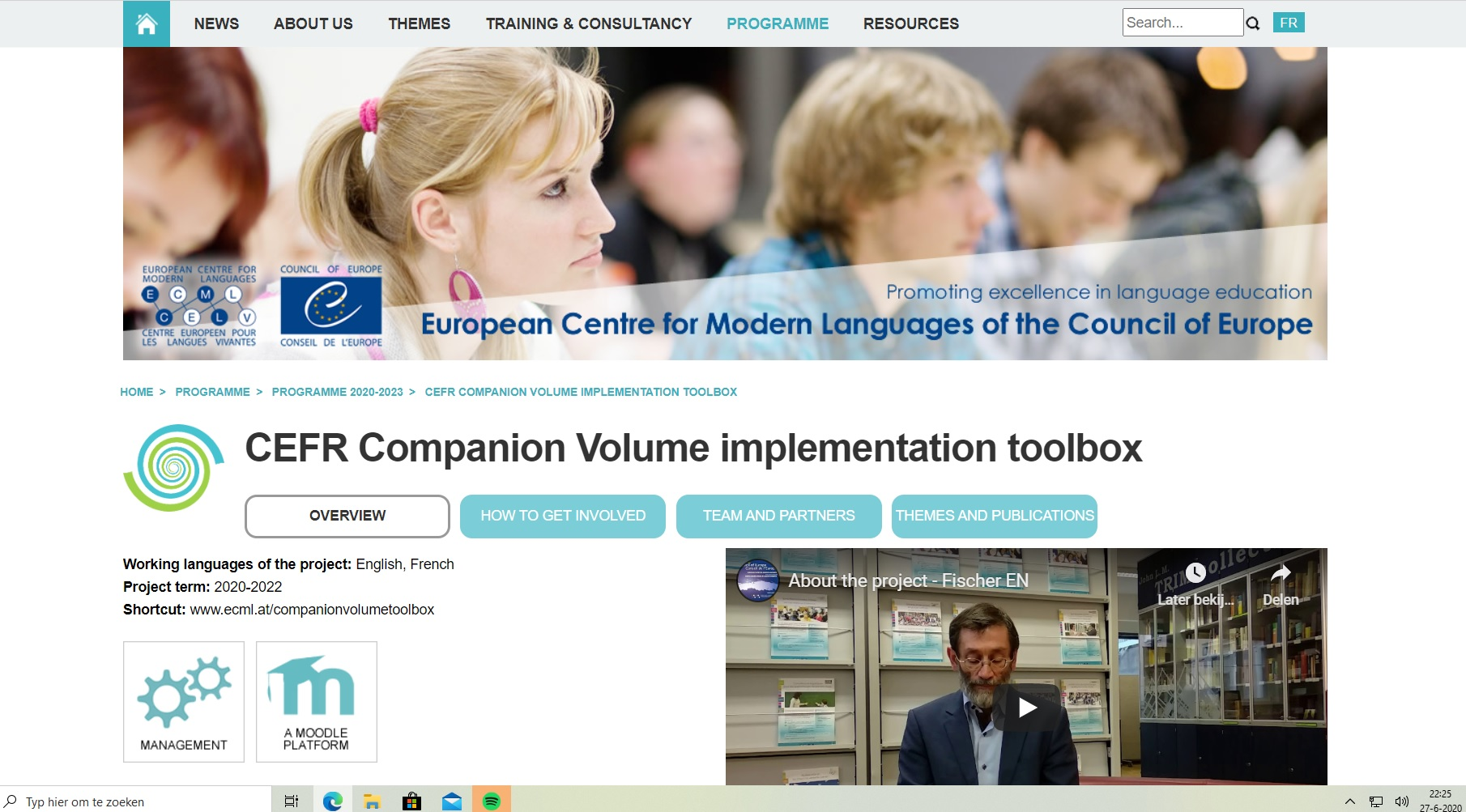 "First expert meeting of ECML project ""CEFR Companion Volume Implementation Toolbox"""