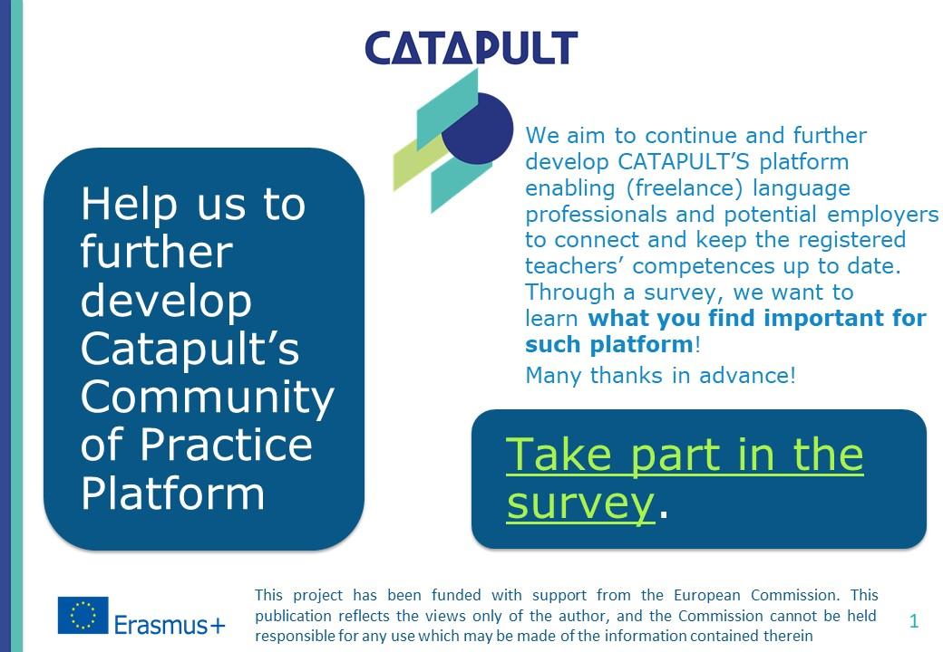 We want to learn what you find important for the development of our platforms.Take part in our survey.